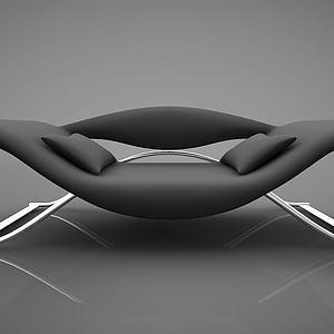 黑色创意沙发模型