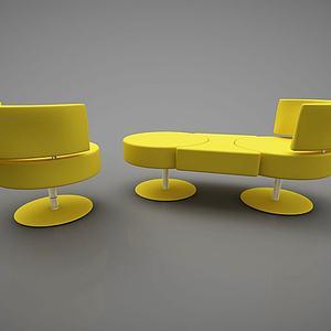 创意休闲沙发模型