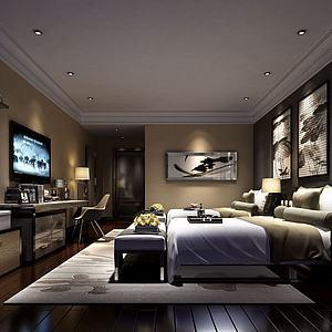 酒店客房爵模型3d模型