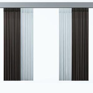 双层窗帘模型3d模型