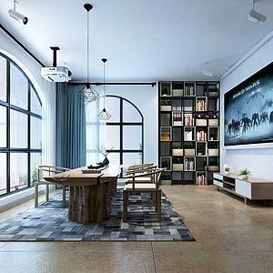 3d北欧客厅模型