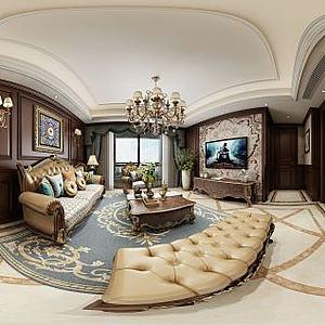 欧式风格客厅模型3d模型