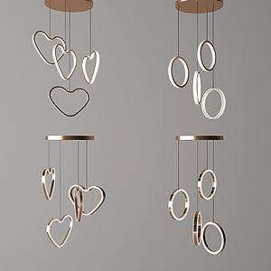 艺术吊灯组合模型