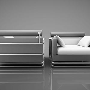 现代靠背沙发组合模型