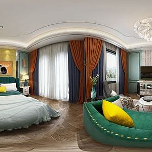 欧式卧室模型