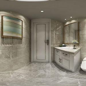 美式卫生间模型3d模型