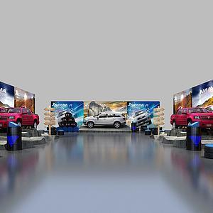 工业风汽车车展模型