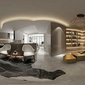 现代风格办公空间模型