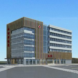 3d现代医院<font class='myIsRed'>大楼</font>模型