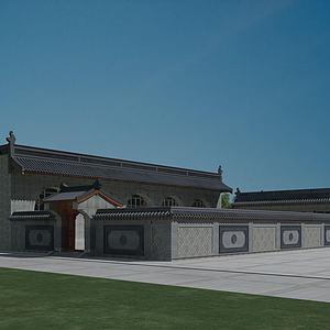 3d古建庭院模型