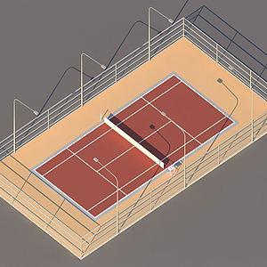 网球场模型