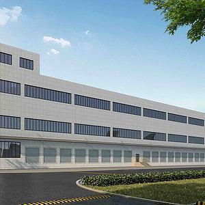厂房厂区办公楼模型