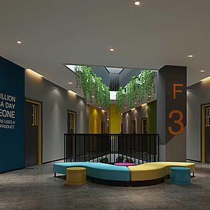 3d大厅模型
