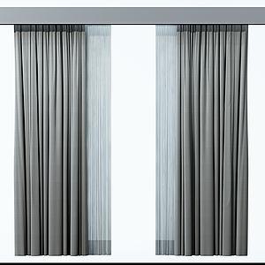 窗帘模型3d模型