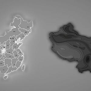 地图挂件模型