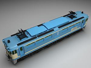 3d蓝色火<font class='myIsRed'>车</font>模型