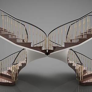 蝴蝶旋转楼梯模型