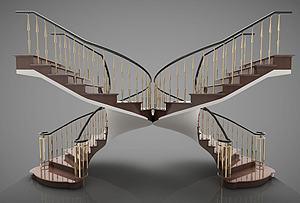蝴蝶旋轉樓梯模型3d模型