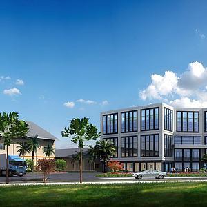 厂房办公楼模型3d模型