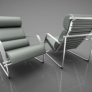 现代椅子组合模型