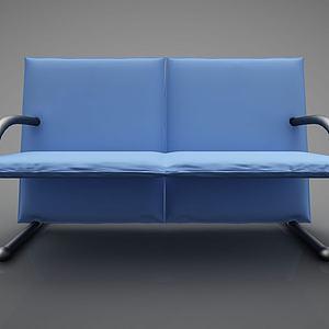 创意蓝色沙发模型