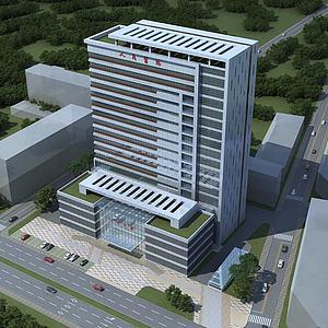 医院办公楼模型