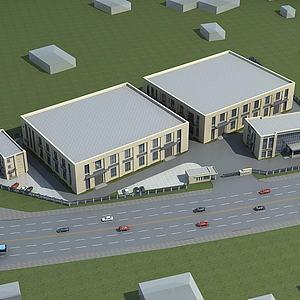 办公楼厂房模型