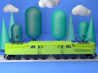 C4D玩具<font class='myIsRed'>火車</font>模型