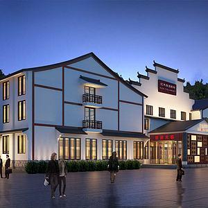 现代餐馆模型3d模型