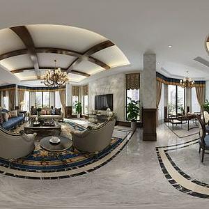 欧式客餐厅模型3d模型