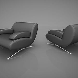 现代单人沙发模型