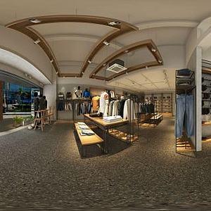 男士服装店卖场模型3d模型