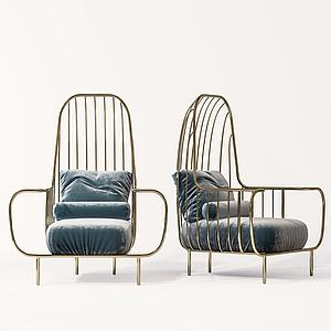 休閑懶人單椅模型3d模型