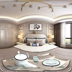 美式风格卧室模型