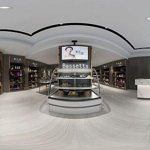 现代风格商店超市模型3d模型
