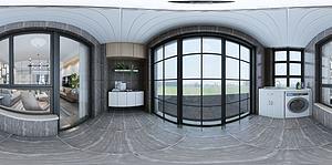 北歐風客廳模型3d模型