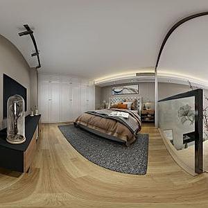 美式风格客厅模型