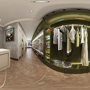 现代风格服装店模型3d模型