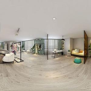 3d现代风格服装店模型