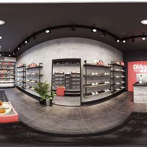 现代风格鞋店模型