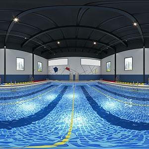 现代风格游泳池模型