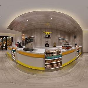 现代商店超市模型