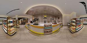 现代商店超市模型3d模型
