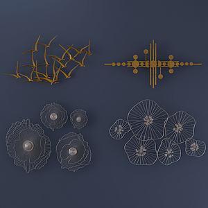 金屬裝飾品鐵藝墻飾3d模型