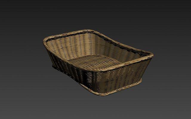 竹篮竹筐模型