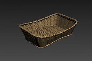竹篮竹筐模型模型