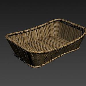 竹籃竹筐3d模型