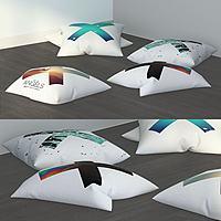打叉系列抱枕靠枕組合3d模型