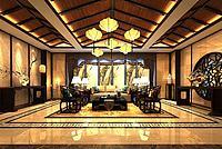 中式客廳沙發椅子3d模型