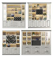 現代簡歐酒柜3d模型